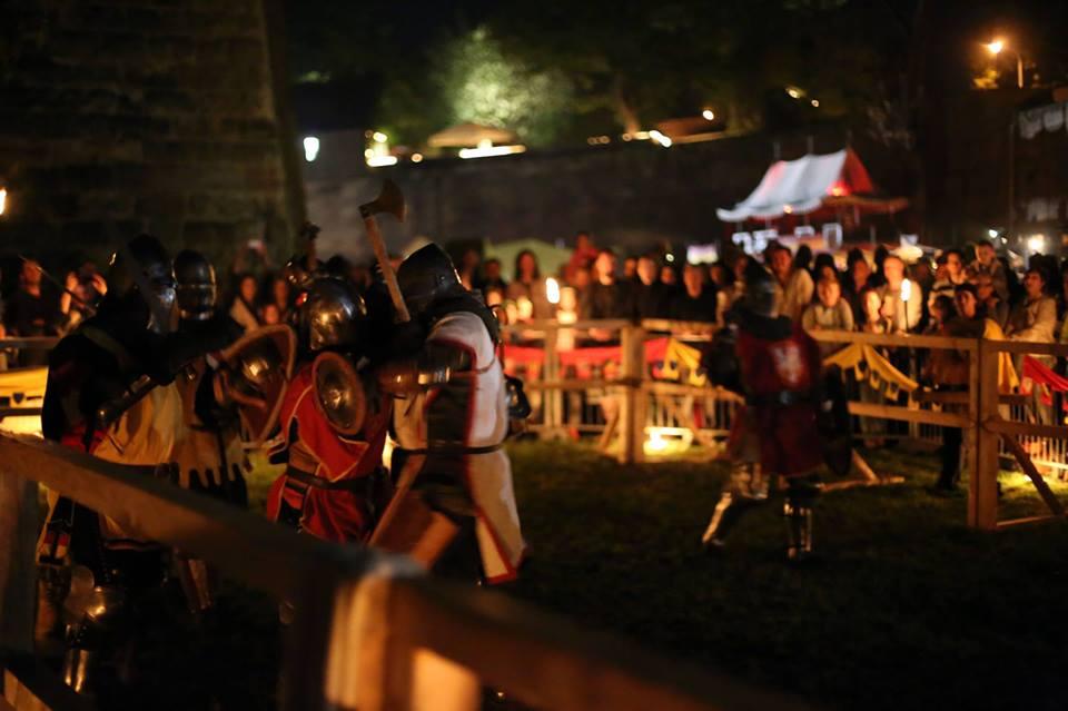 Schwertvollkontakt beim Burggrabenfest Nürnberg   Eisenliga
